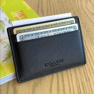Coach slim-line wallet/money clip/card case.